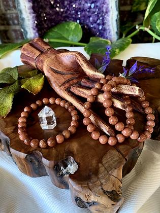 Goldstone Healing Crystal Bracelet (8mm)