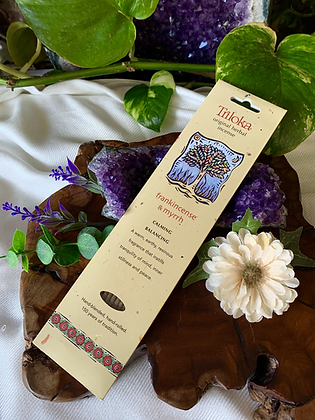 Triloka Frankincense & Myrrh Original Herbal Incense