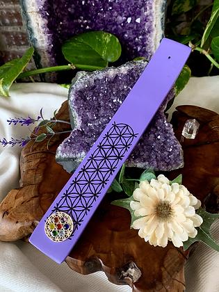 Flower of Life Jeweled Chakra Incense Burner