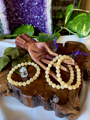 Yellow Calcite Healing Crystal Bracelet