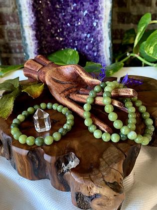 Jade Healing Crystal Bracelet (8mm)