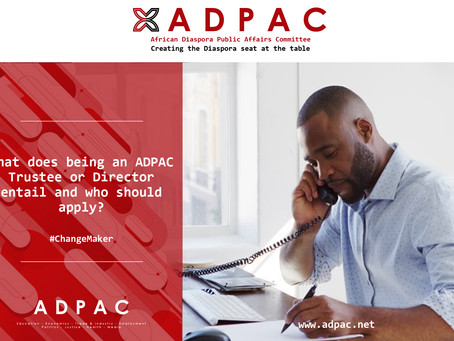 What does being an ADPAC Trustee or Director entail and who should apply?