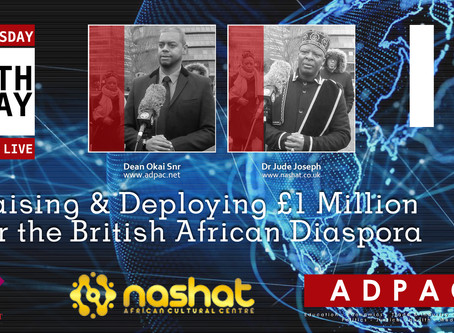 Lets Raise £1 Million for the #1MC Challenge to create British African Diaspora self determination