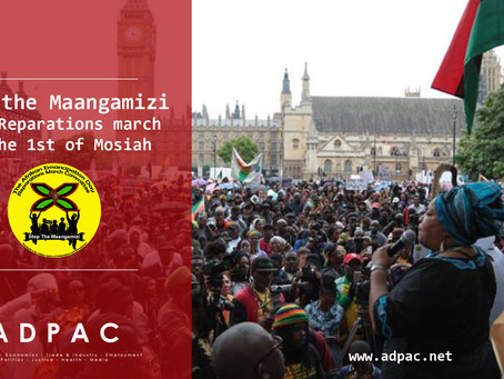 Reparations march stop the Maangamizi