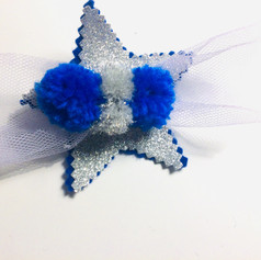 Pom-tulle star in blue & silver £8