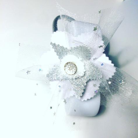 Frosty flower headband £10