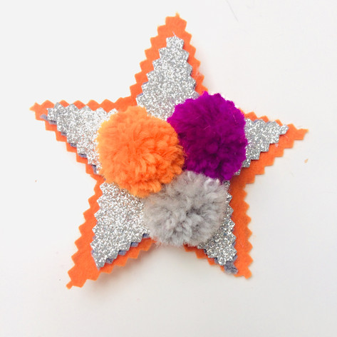 Star in orange & purple £7