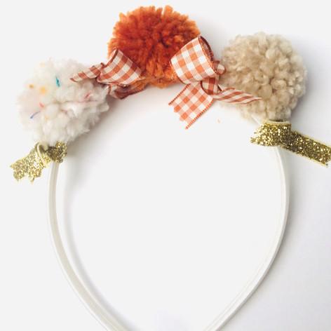 Trio pompoms headband £14