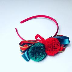 Red & green tartan headband £12