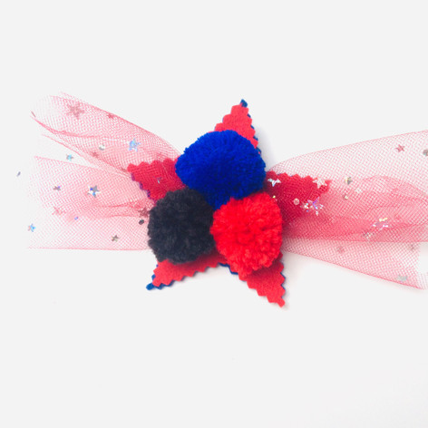 Pom-tulle star in red & blue £8