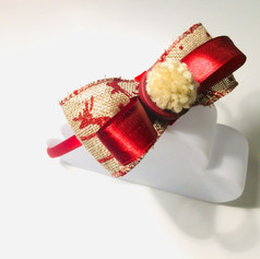 Hessian Christmas headband £12