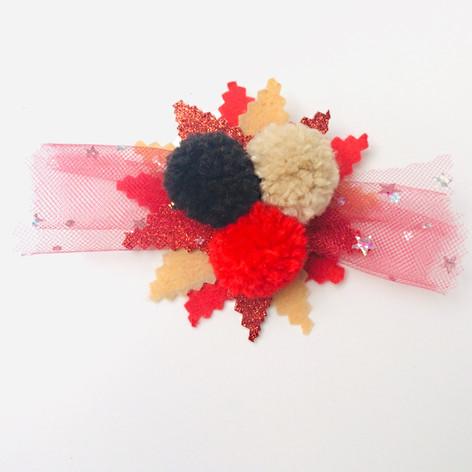 Tri-colour flake clip & pin (duo) £8