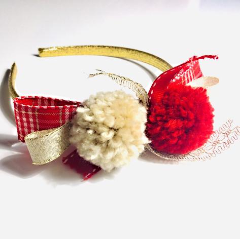 Red & Gold tartan headband £12