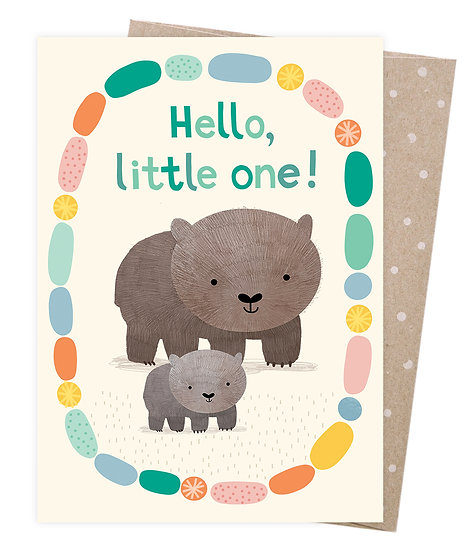 GREETING CARD - WELCOME BABY WOMBAT