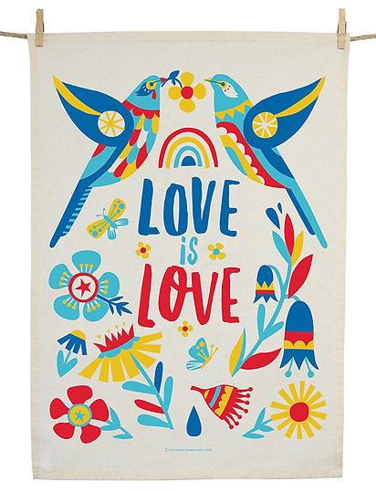 TEA TOWL - LOVE WATTLEBIRDS