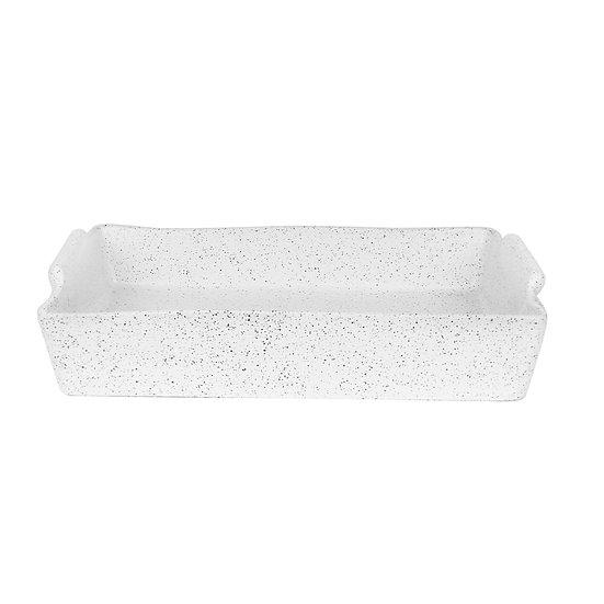 BAKER RECTANGLE LARGE - WHITE GRANITE FEAST