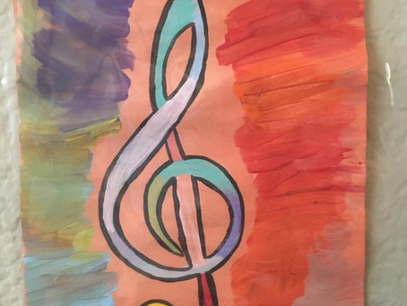 Treble Clef Drawing Contest - August 2018