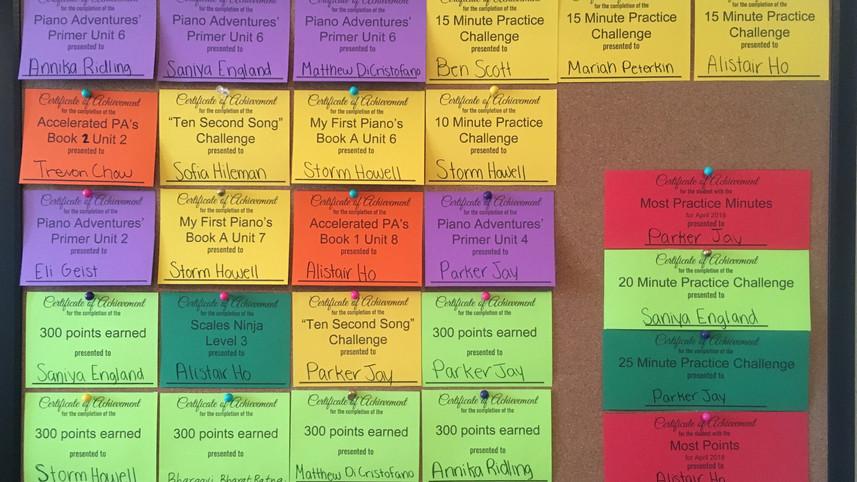 Recognizing Student Achievements