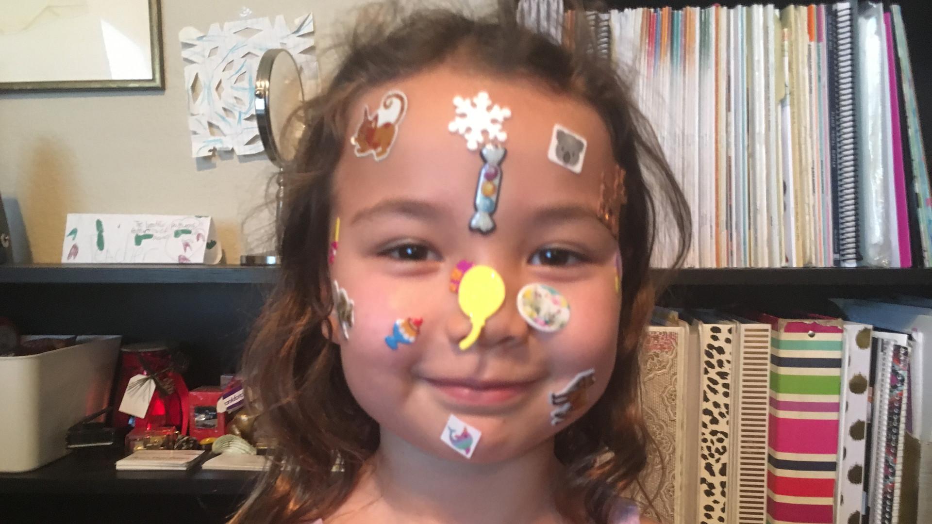 Sticker Face Challenge