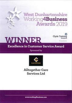 Award 2019 - Working 4 Business (Custome