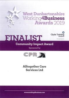 Award 2019 - Working 4 Business (Communi