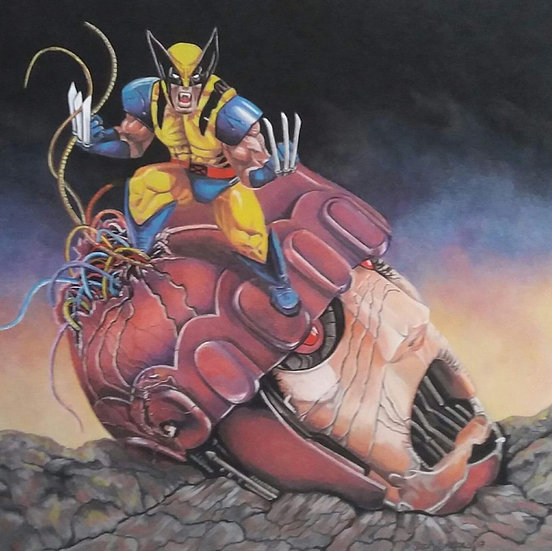 Wolverine and Defeated Master Mold