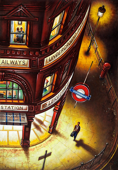 Alone in London (Leicester Square Tube Station)