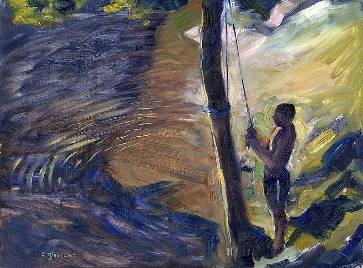 Tying The Rope Swing, Coniston