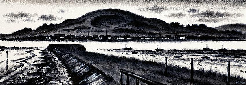 Askam Pier, Millom and Black Combe