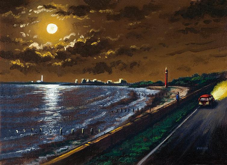 Coast Road Moon