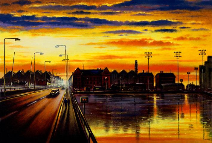 Michaelson Road Bridge Sundown