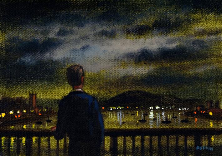 Walney Channel Night - Black Combe