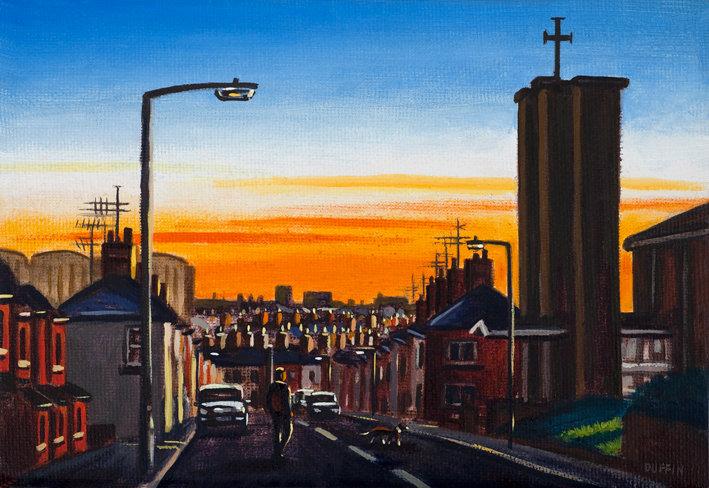 Harrogate Street at Dusk