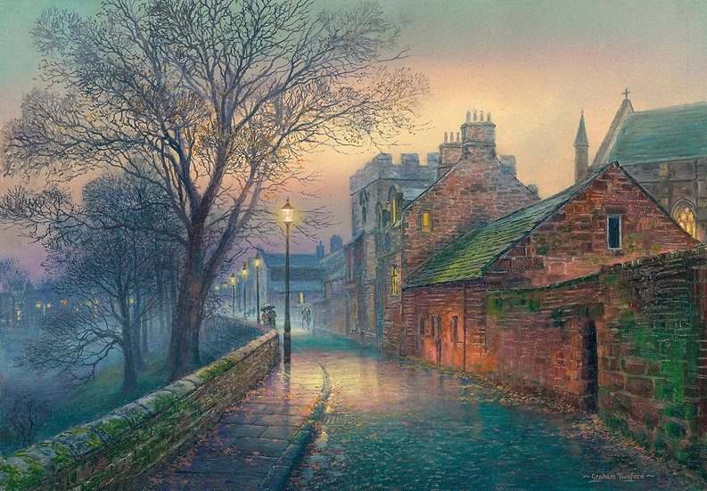 Carlisle, West Walls by Twilight