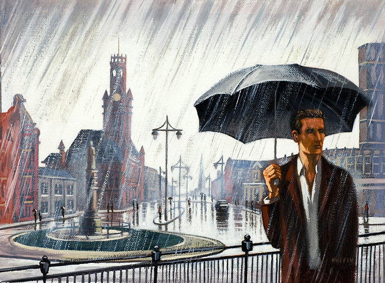 Schneider Square Rain
