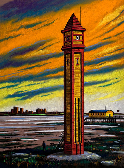Rampside Lighthouse Twilight