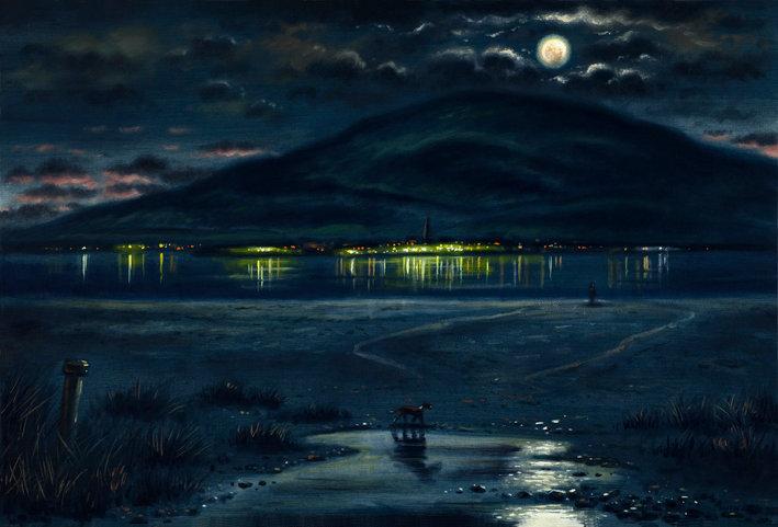 Black Combe Moon at Roanhead