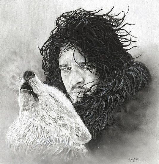 Jon Snow & Ghost