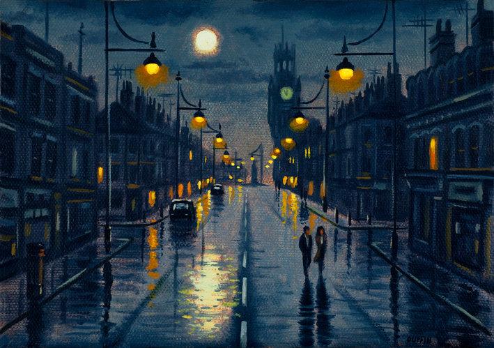 Duke Street After Rain (Small Version)