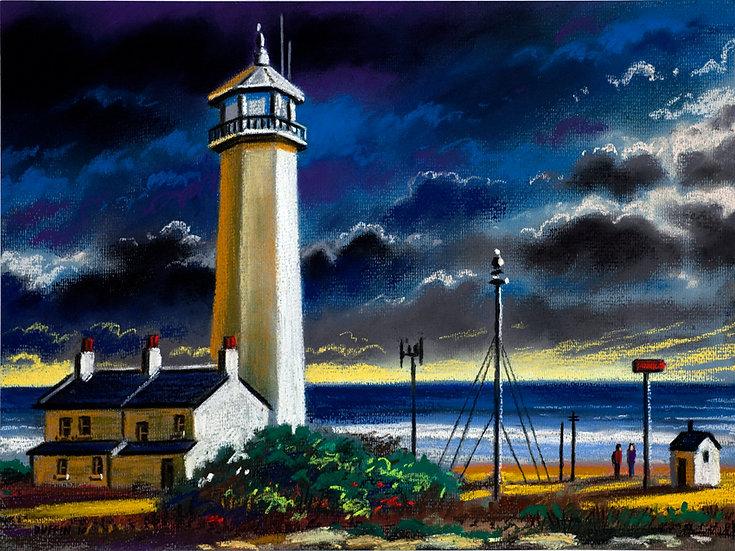 Walney Lighthouse Storm