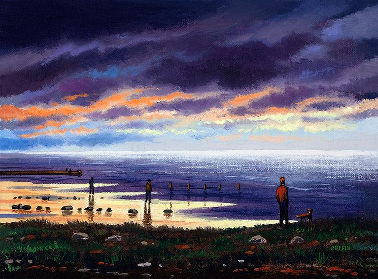 Nightfall Off Biggar Bank, Walney Island