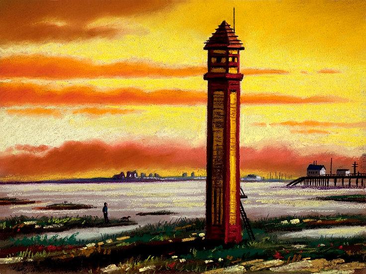 Rampside Lighthouse Sunset