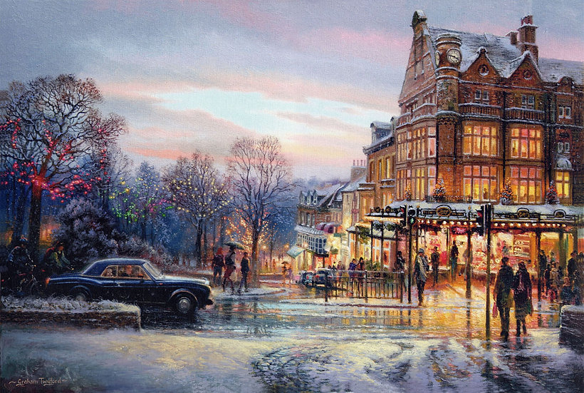 Harrogate, Betty's Tea Rooms in the Snow