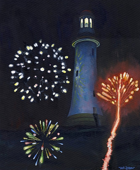 Firework Display Over Hoad Hill