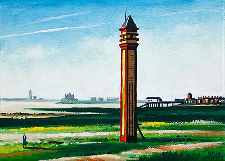 Rampside Lighthouse Sunlight