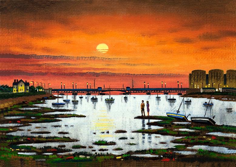 Walney Channel - October Sunset