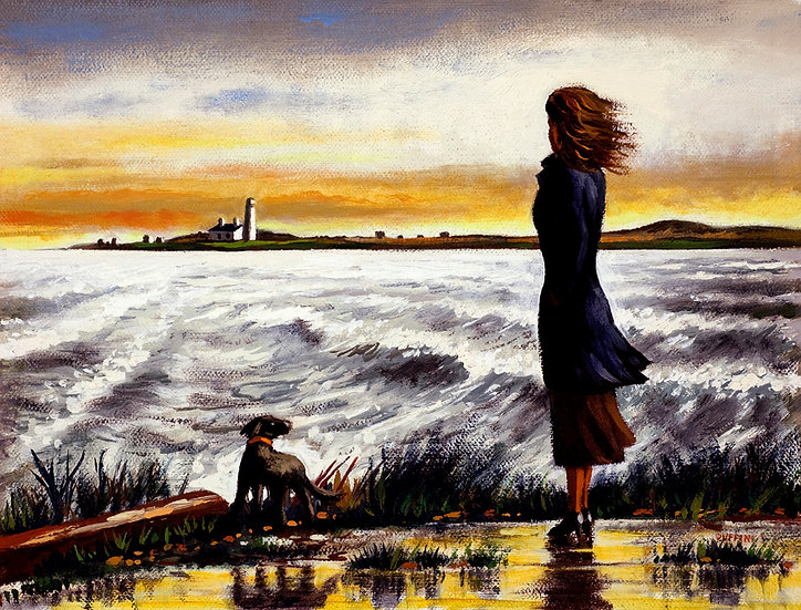 Walney Lighthouse Distant Storm
