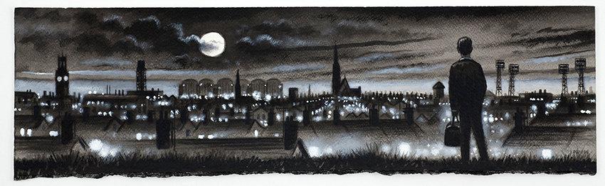 Barrow Panorama - Night Skyline