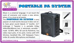 Portable PA