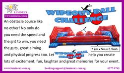 Wipeout ball challenge
